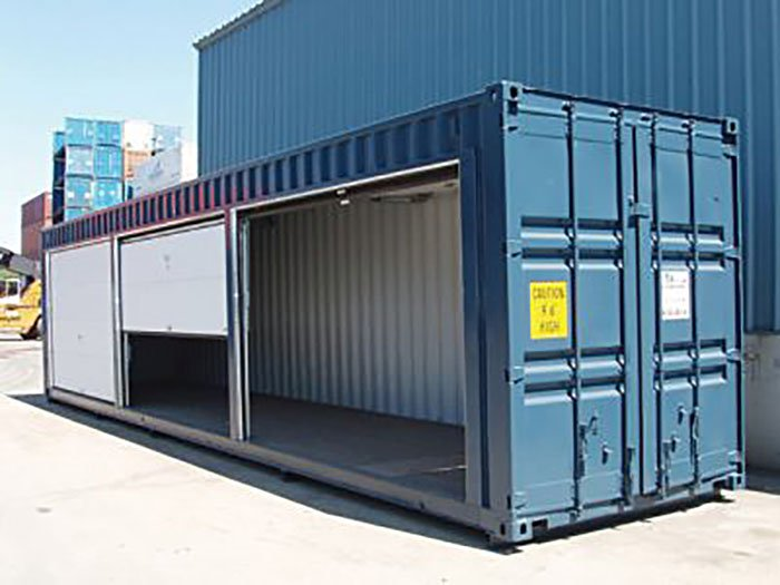 Shipping Container Modification 8' Roll Up Door 2- TargetBox Ontario