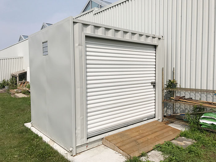 Shipping Container Modification 8' Roll Up Door and Vent- TargetBox Ontario