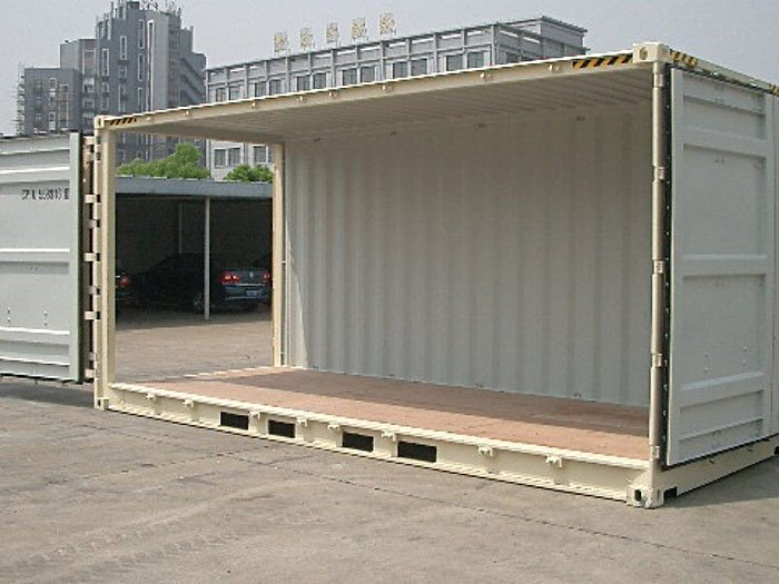 Shipping Container Modification Open Side - TargetBox Ontario