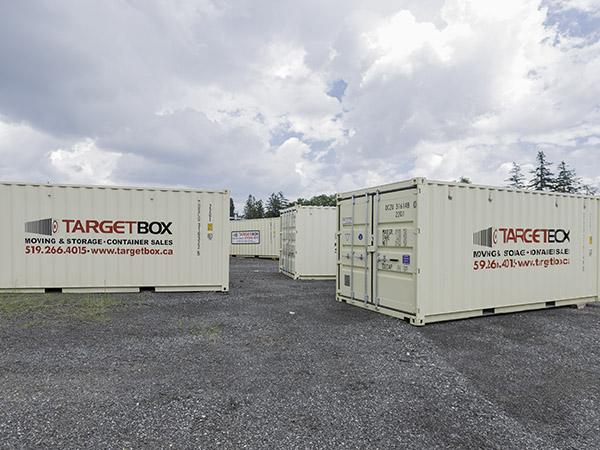 Storage on Secured Yard - TargetBox Ontario